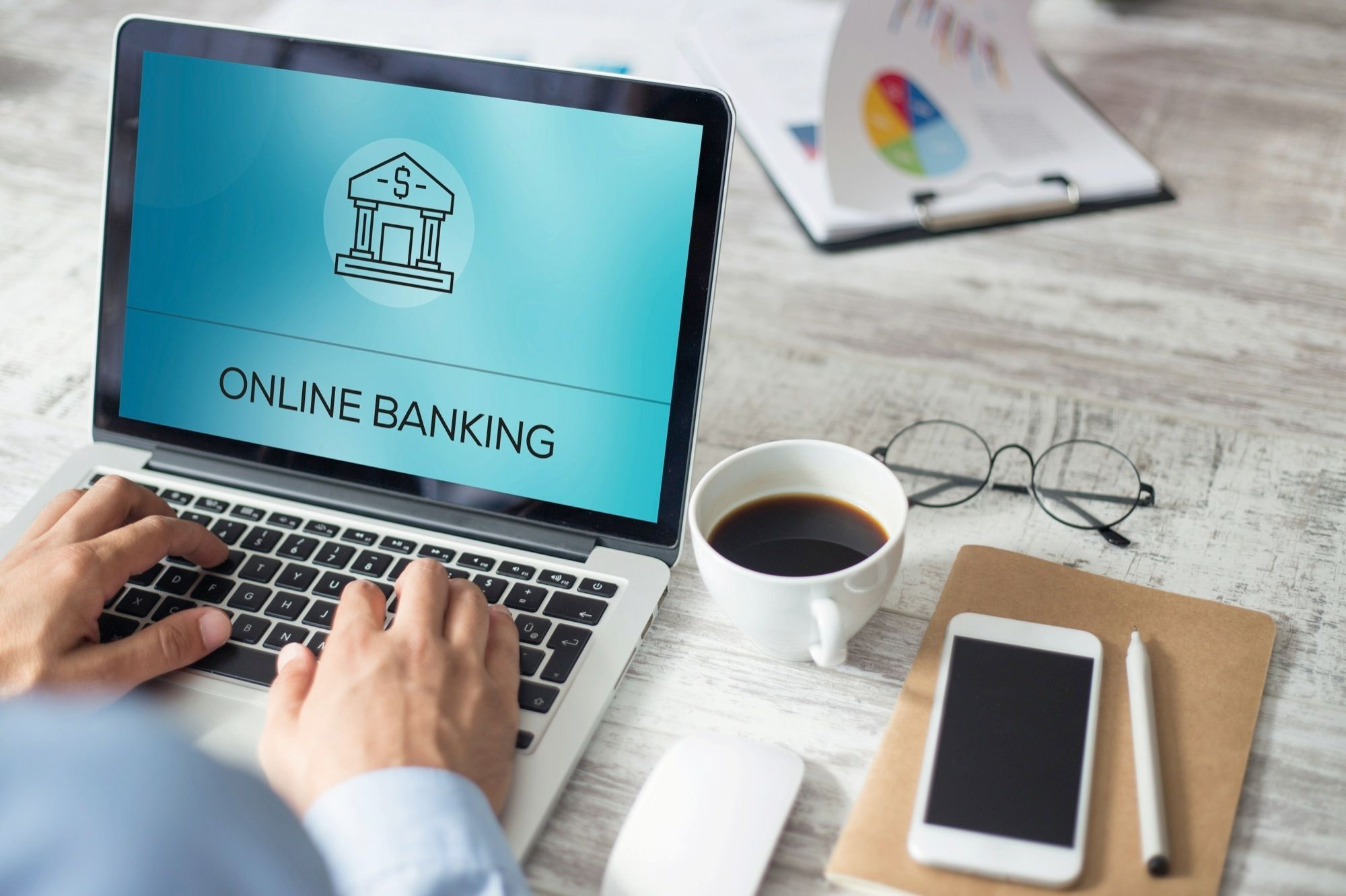 Banque en ligne - image